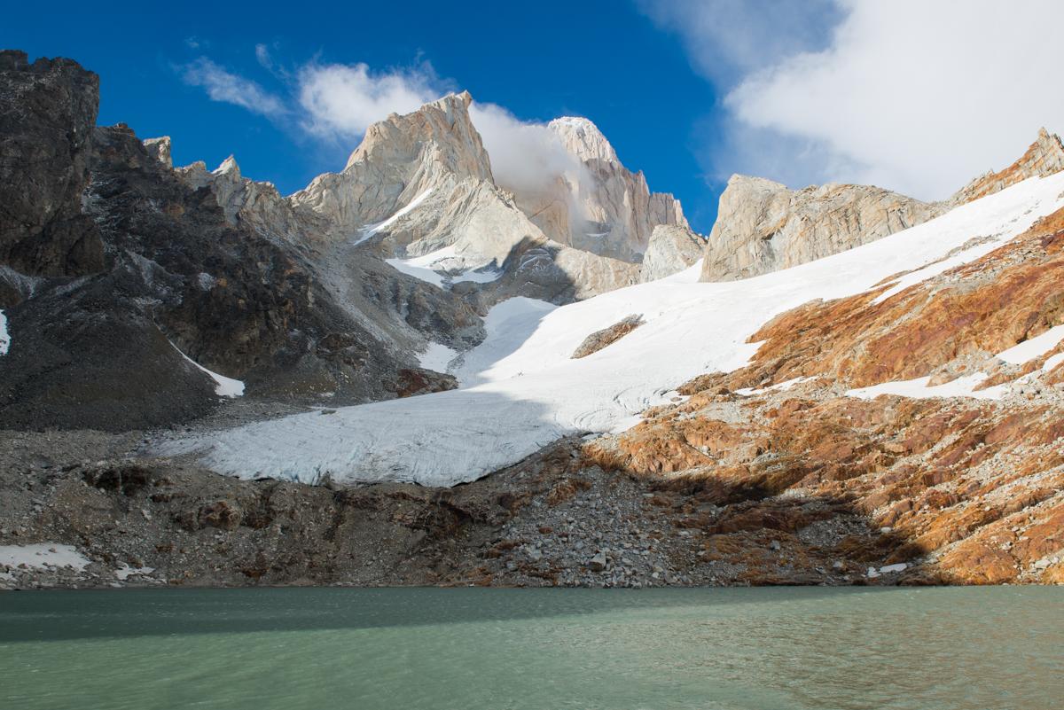 Ausblick von Piedra Negra, Aig. Guillaument, Aig. Mermoz, Cerro Fitz Roy