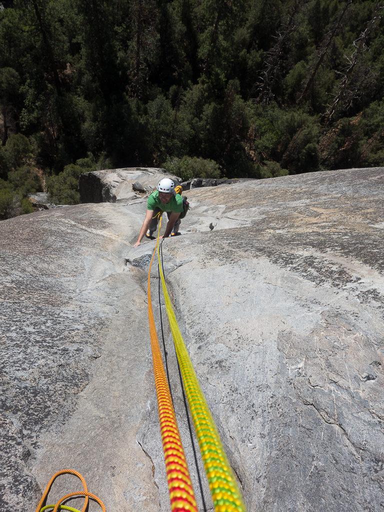 die ersten Seillängen unseres Klettertrips