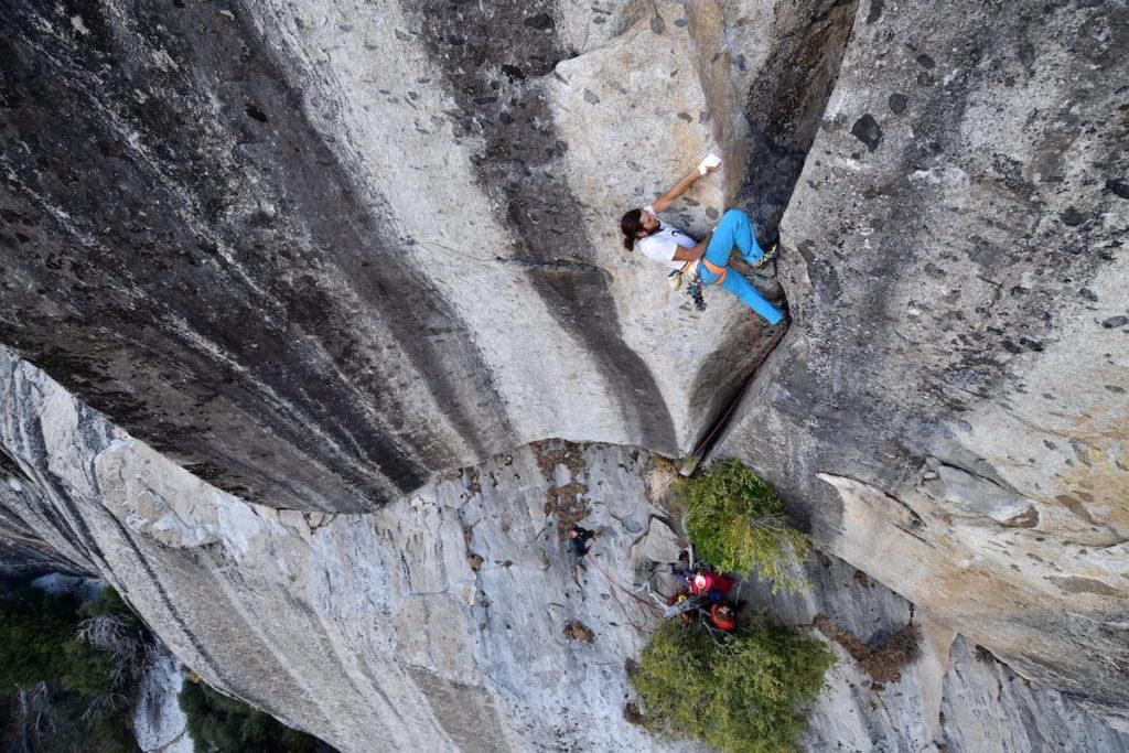 Die Boulderstelle nach dem Handriss Slot (c)Bernd Zeugswetter