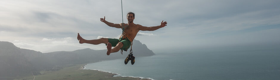 Klettern Sizilien San Vito Lo Capo Lost World Stefan Brunner