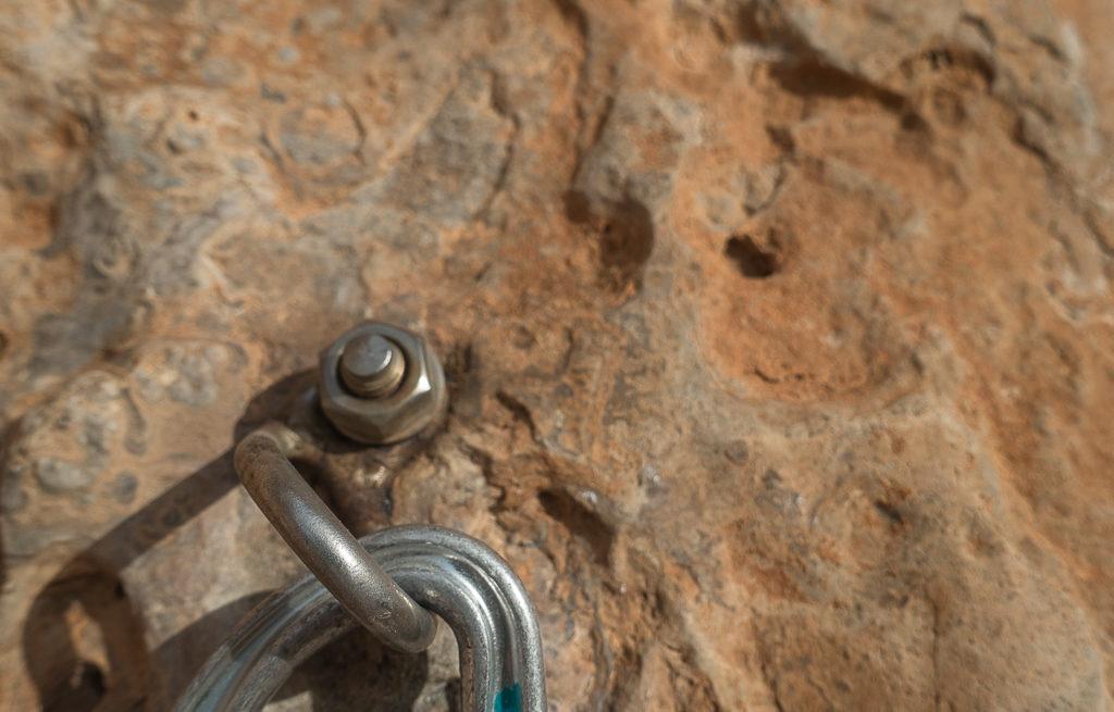 Klettern Sizilien San Vito Lo Capo selbst gemachte Haken