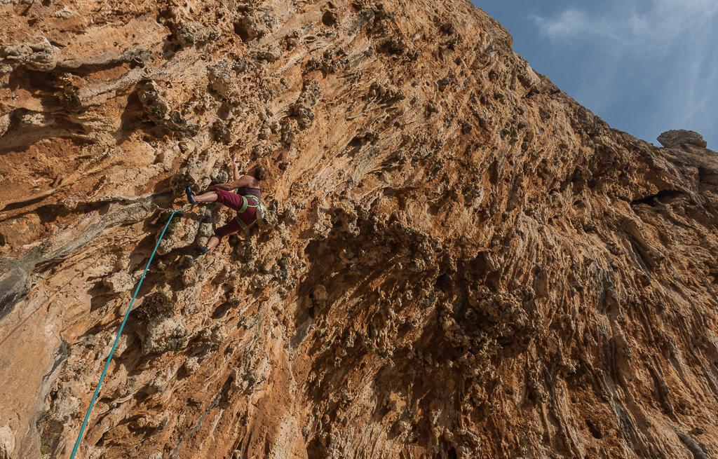 Sinterknollen ohne Ende Klettern Sizilien San Vito Lo Capo