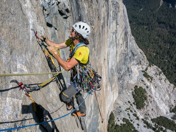 scary Hooking El Capitan Yosemite Big Wall Techno klettern aid climbing Stefan Brunner