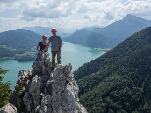 Drachenwand Klettersteig Seeblick Mondsee