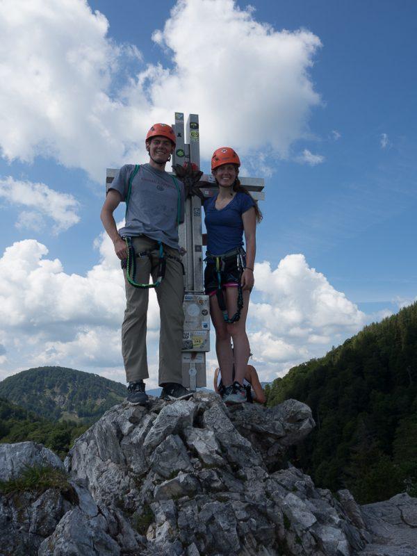 Drachenwand Klettersteig Gipfelkreuz