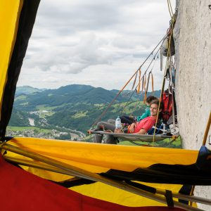 Portaledge Biwak Losenstein Wandbiwak Big Wall Training