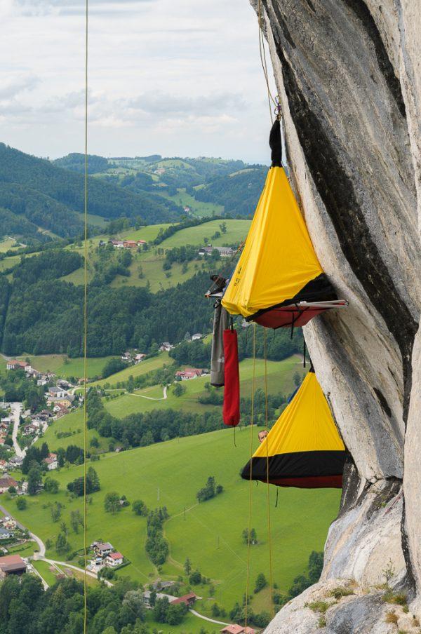 Portaledge Biwak Losenstein Wandbiwak Big Wall Training