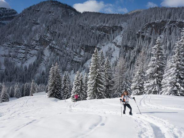 Schnupper Skitour Neuschnee Pulverschnee Traumwetter