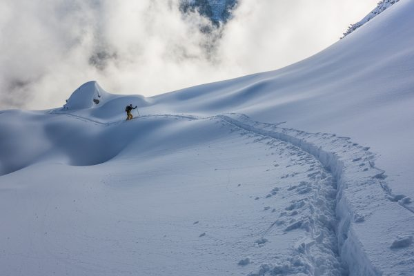 Leichte Skitour für Genießer Pulverschnee