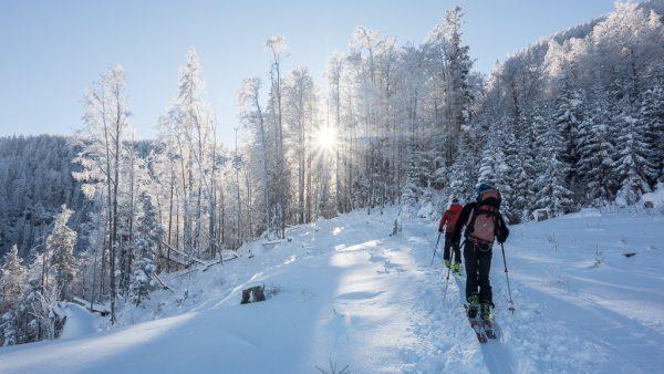 Leichte Skitour für Genießer Sonnenstahlen