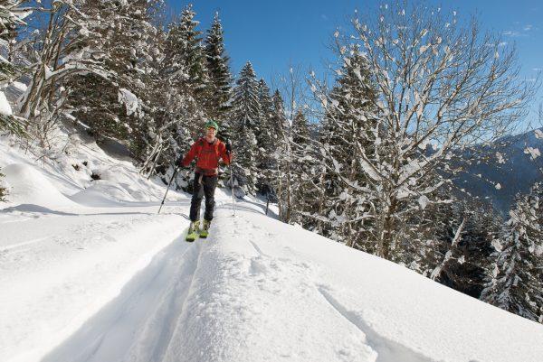 Leichte Skitour für Genießer Sonnenschein und Pulverschnee
