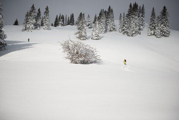 Leichte Skitour für Genießer alleine auf Tour
