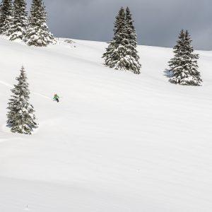 Leichte Skitour für Genießer herrliche Abfahrt