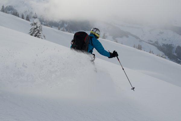 Leichte Skitour für Genießer Pulverabfahrt