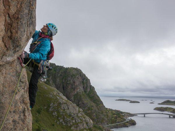 Lofoten trad klettern Gerda Raffetseder