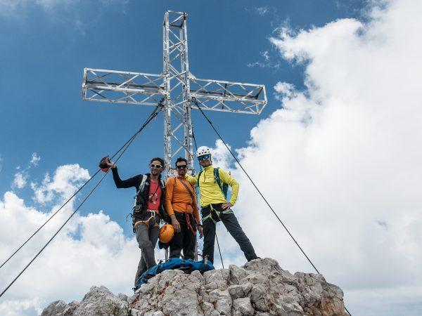 Am Gipfel des Hohen Dachstein über den Steinerweg