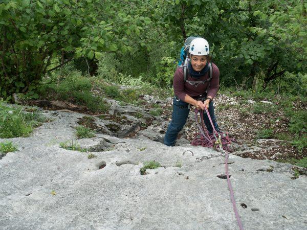 Klettern am Plombergstein