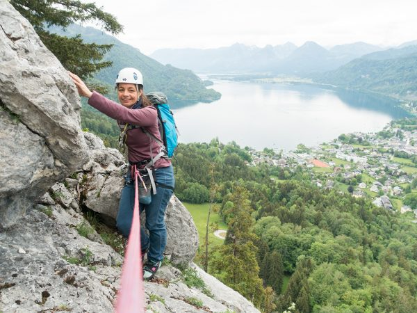 Mehrseillängen Klettern am Plombergstein