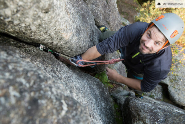 Trad klettern am Mönch